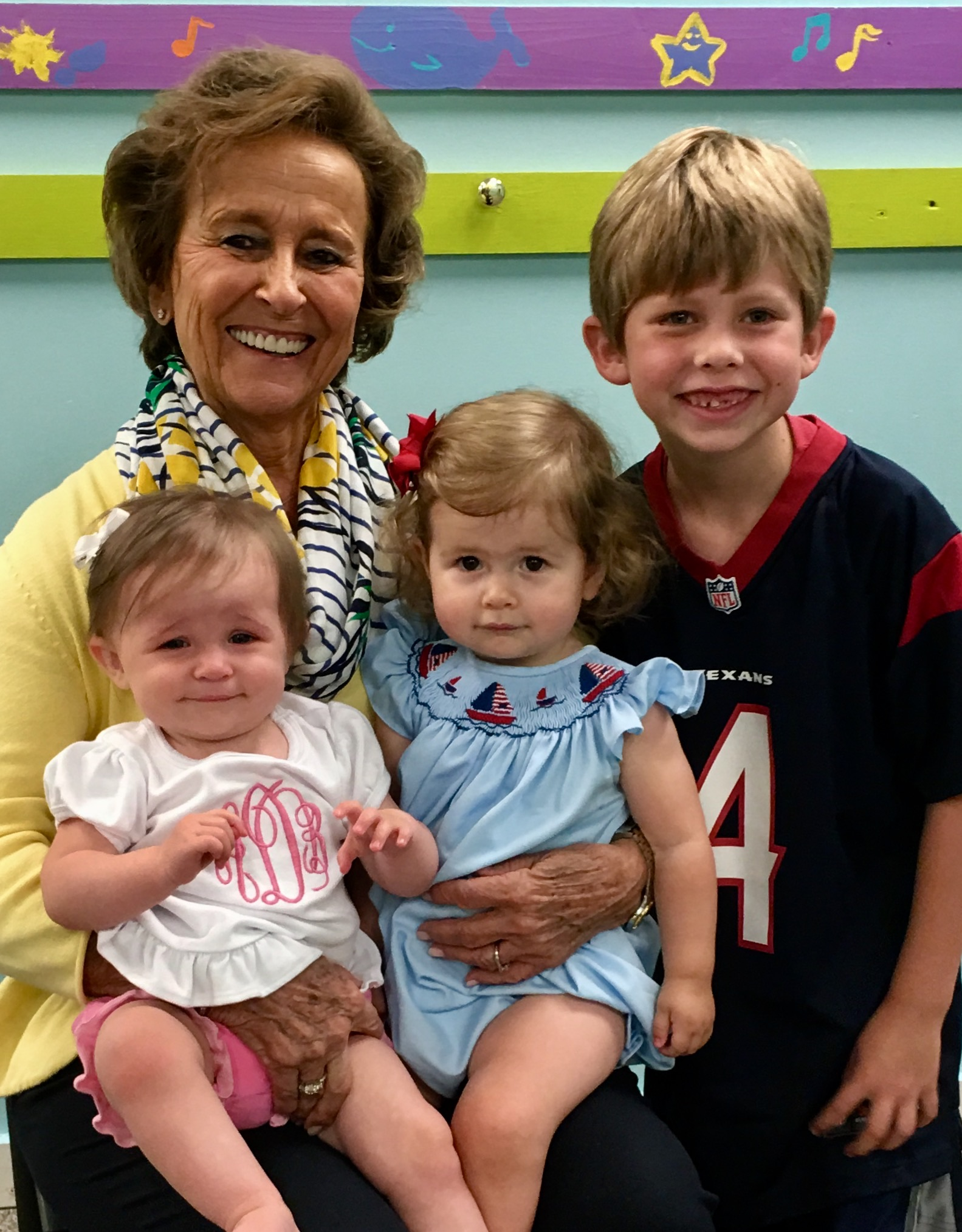 Betty Farr and great grandchildren