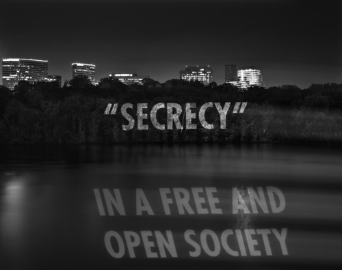 Jenny Holzer Secrecy Projection