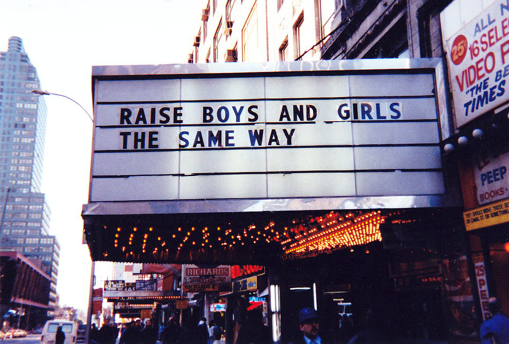 Jenny Holzer Raise Boys and Girls the same way